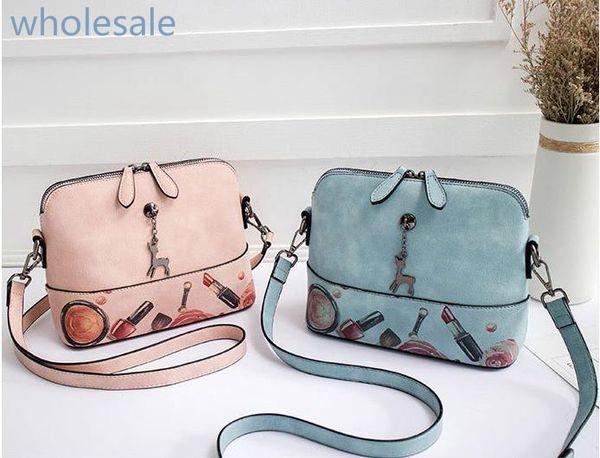 Wholesale 2019 new brand women messenger Shoulder bag promotion designer calfskin pu retro women shoulder bag mens crossbody bag pu B102356D
