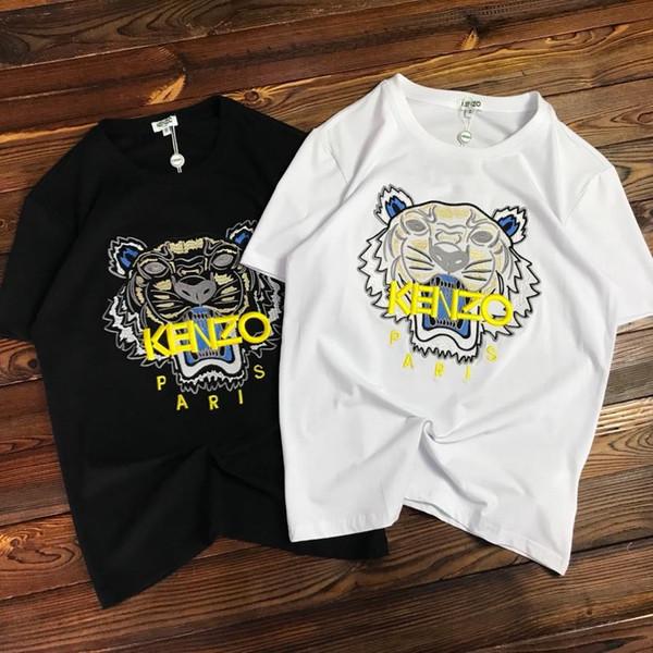 Tiger Überlegene qualität Herren Tops Mode Lässig Marke T Shirts Champion Sommer Männer Frauen Paar Top Tees Kurzarm Pullover Größe S-L
