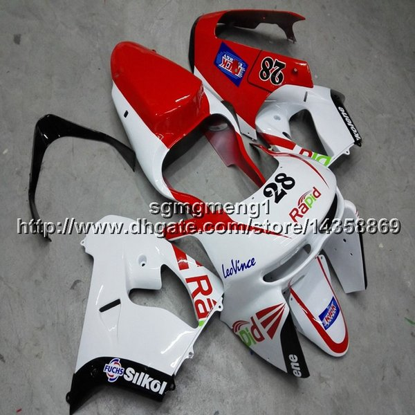 23colors+Botls red white motorcycle cowl for Kawasaki ZX9R 1998-1999 ABS Plastic Fairing ZX-9R 98 99