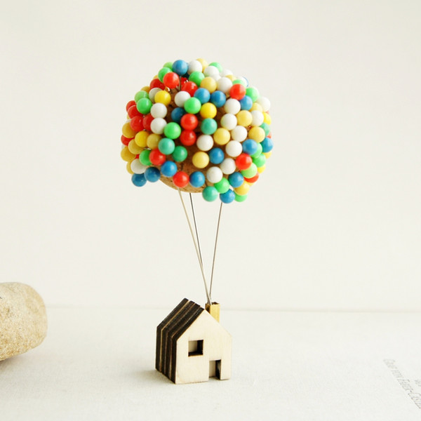 2019 Flying House Ring Travel Balloon Cabin Handmade Stationery Pins Christmas Holiday Birthday Gift Ideas Novel Decoration Ideas Home Accents From