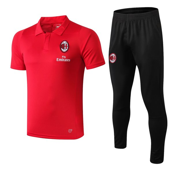 best sale new season 18 19 AC Milan Polo shirts tracksuits 2018 2019 AC jacket soccer Camisa short sleeve training suits