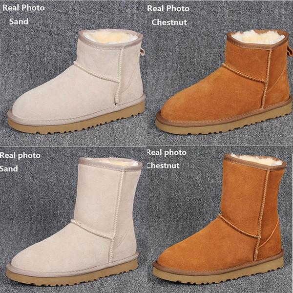HOT WGG hiver neige Bottes Australie Classique bonne mode bottes hautes en cuir véritable Bailey bowknot bailey bow femme bottes au genou mens chaussures