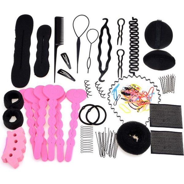 Styling Comb different 1set Hair type/set Clip Device Accessories types Rubber Band Hairpin Hair Band 20 Black