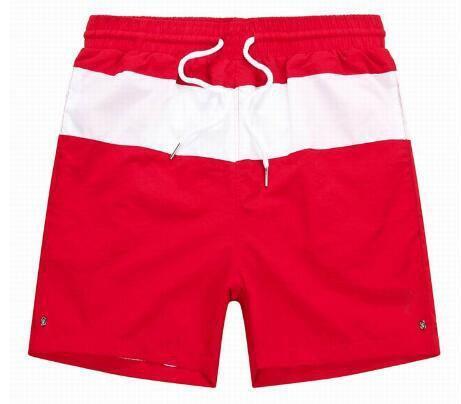 Fornecimento de Novos Homens de Verão Listrado Polo Shorts Pequeno Pônei de Alta Qualidade Praia Calças Curtas Clássico Quick Dry Board Troncos Vermelho Preto Azul