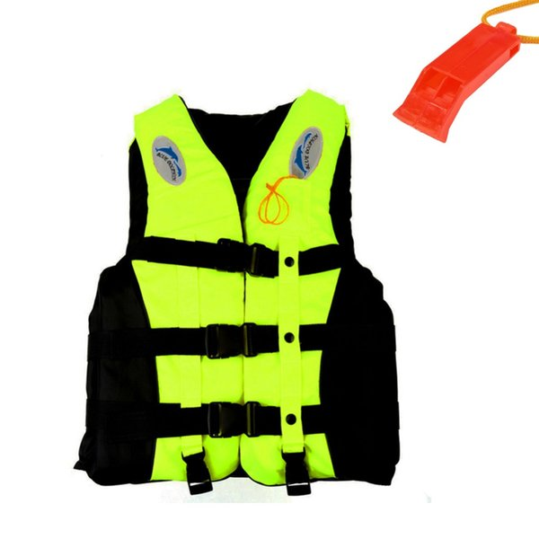Mounchain S-3XL Swimwear Polyester Adult Life Jacket surfing Vest Fishing Survival Suit Whistle Inflatable Life Jackets Vest
