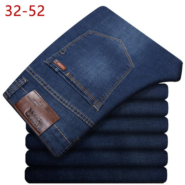 Plus Size 32-52 Men Classic Straight Baggy Jeans New Summer Male Thin Casual Regular Fit Denim Pants Big Size Overalls For Mens MX190718