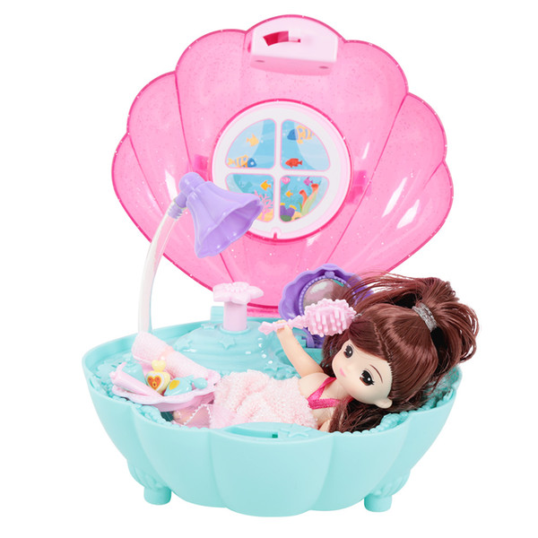 Maison de poupée portable pliable bricolage magique petite salle de bains