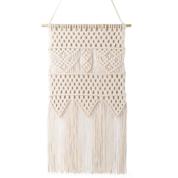 Macrame Wall Hanging Tapestry -Chic Home Decorative Interior Wall Decor - Bohemian Ethnic Apartment Dorm Room Art Decor - Livi