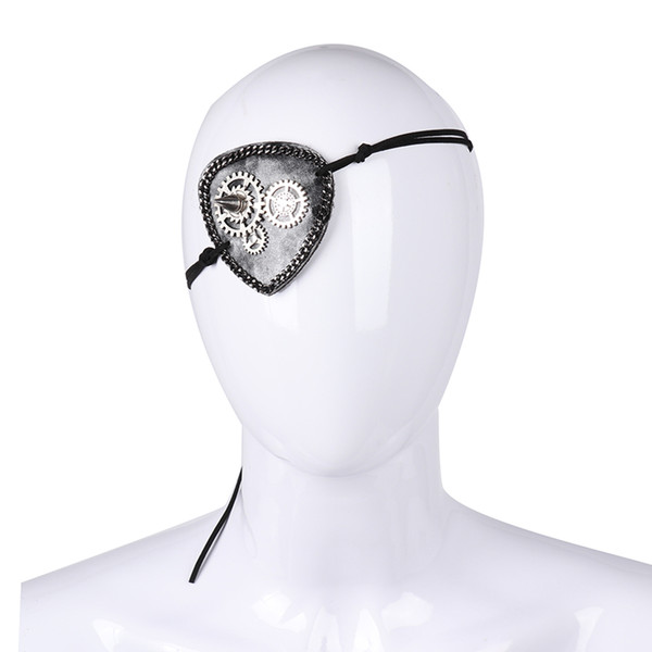 Free Shipping Cospty Vintage Goth Steampunk Style Steam Punk Costume Accessories Rivet Gears Cogs Pirate Eyepatch