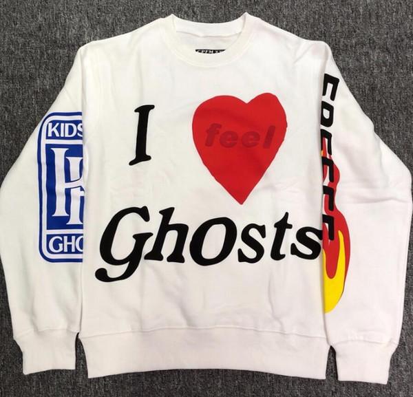 New Kid Cfg Ouest Album Voir Hip Hop Ghosts Hommes Femmes Haute Qualité Kaki Blanc Lettre Lucky Me Sweat Streetwear S-XL