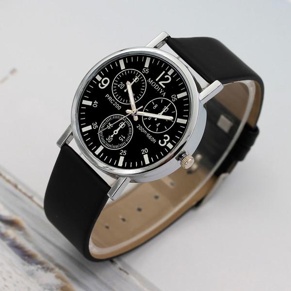 Nova moda 2019 relógios de quartzo dos homens relógio de couro azul cinto de couro assistir homens relógios de pulso baratos relogio masculino venda quente
