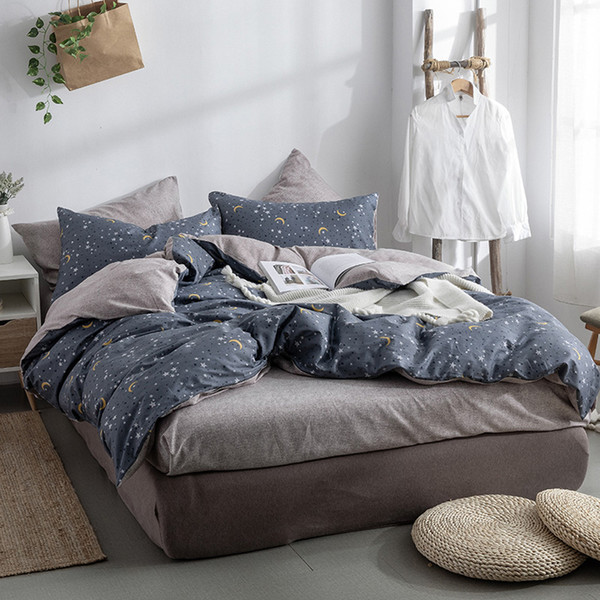 Home Bedroom Bed Linens 4Pc Bedding Set Quilt Cover Pillowcase Bed Flat Sheet Or Fitted Sheet Mattress Cover Set Bedclothes star