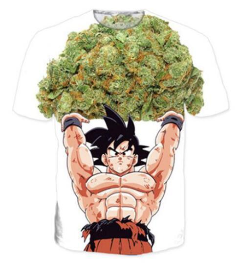 New Fashion Mens / Womans Anime Dragon Ball Z Tee Summer Style Unisex 3D Stampa Casual T-Shirt Top Plus Size RW0145