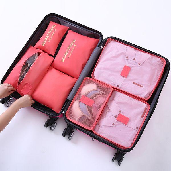 7 adet / takım su geçirmez Seyahat Saklama Çantası gizli kılıfı Organizatör Dolap Bavul Kılıfı Seyahat Organizatör Çanta Case Ayakkabı Ambalaj Küp Çanta
