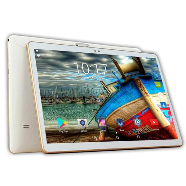 2018 Más reciente 10 pulgadas Tablet PC 3G Octa Core 4GB RAM 64GB ROM Dual SIM 5MP Android 7.0 GPS Bluetooth WiFi Tablet PC 10.1