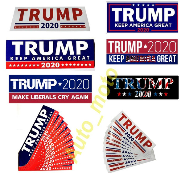 top popular hot sale New Styles Donald Trump 2020 Car Stickers 7.6*22.9cm Bumper Sticker Keep Make America Great Decal for Car Styling Vehicle Paster 2021