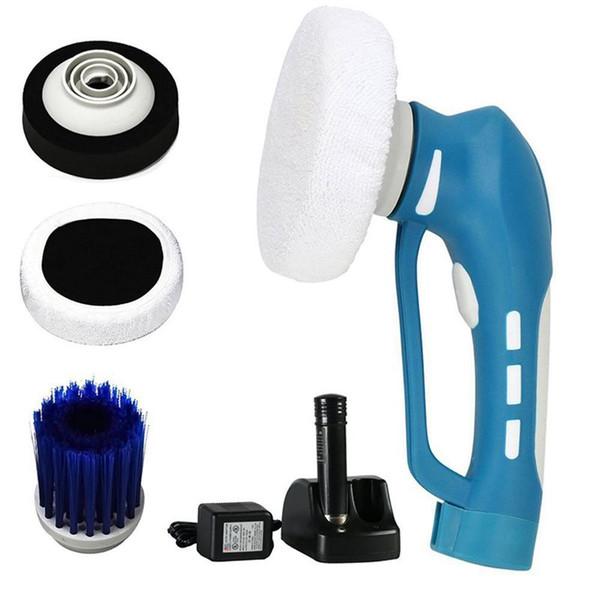 Auto Polieren, Mini Schnurlose Auto Polierer Handheld Elektrische Reinigungsmaschine Wasserdichte Werkzeug Set Us-stecker (Blau)