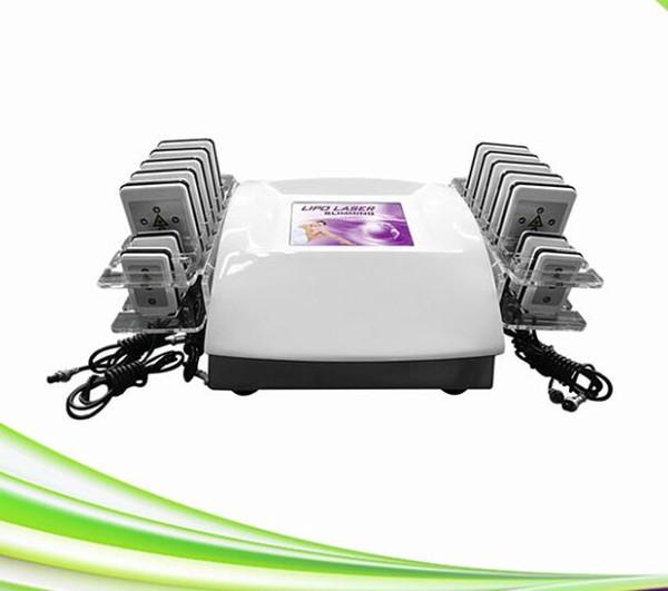 máquina do laser do lipo do lipolaser da clínica dos termas o mais novo 14 emagrecimento do lipolaser do preço das almofadas