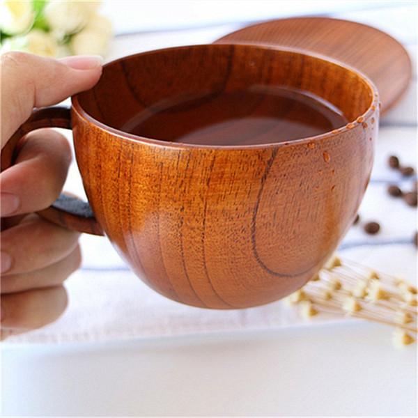 12PCS Retro Zizyphus Jujube Wooden Cup Primitive Handmade Natural Wood Coffee Tea Beer Wine Juice Milk Water Cup Christmas Gift