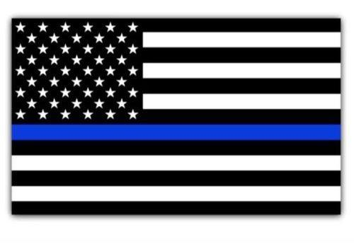 best selling Blue Lives Matter Police USA American Thin Blue Line Flag Car Decal Sticker