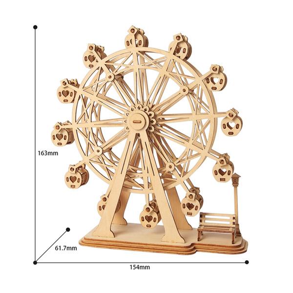 3D Laser de coupe en bois Grande Roue Puzzle Jeu Cadeau pour enfants qui sera Modèle enfants Kits populaire Toy TG401