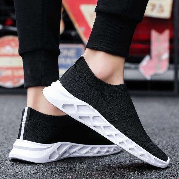 Sapatos de Verão homens e versão coreana da tendência de meias sapatos sapatos casuais líquidas respiráveis um povo preguiçoso