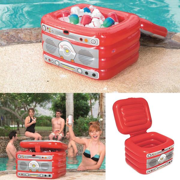 풍선 얼음 양동이 수영장 플로트 음료 과일 쿨러 박스 물 장난감 야외 여름 해변 장식 수영장 파티 욕조 뗏목