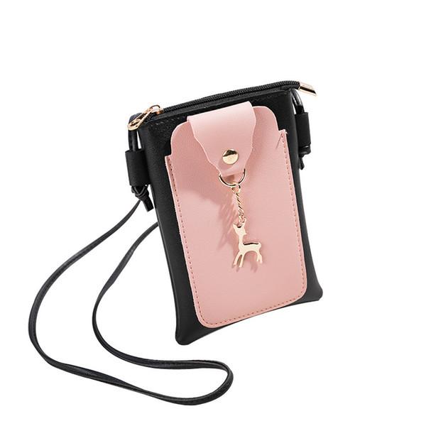 Cheap Fashion Women Fashion Patchwork Deer Cover Cross-body Bag Shoulder Bag Phone Coin Bag