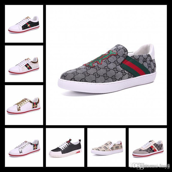 19SS Designer shoes Belt ace white Luxury embroidered white tiger bee fish shoes Genuine Leather Designer Sneaker Mens Women Casual Shoe