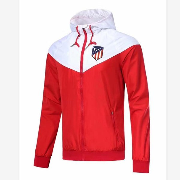 Haute qualité équipe de football Veste 2020 Printemps Designer Jackets de football Maillots coupe-vent à capuchon Zipper Sport Manteau Vêtements de course S-XL