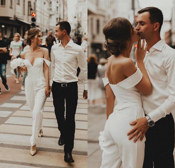 combinaison de mariée chic et moderne