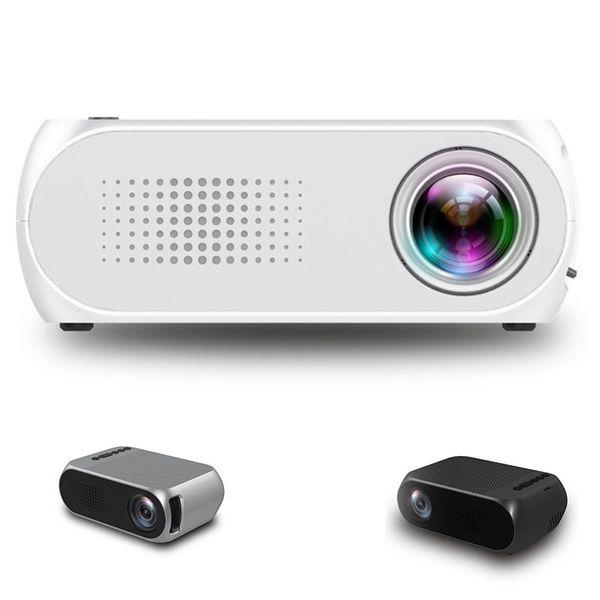 YG320 Bolso Mini Projetor LEVOU Projetor Portátil Beamer HDM AV 1080 P Início Media Player Projetor para Xbox Jogo Embutido Speaker Atacado