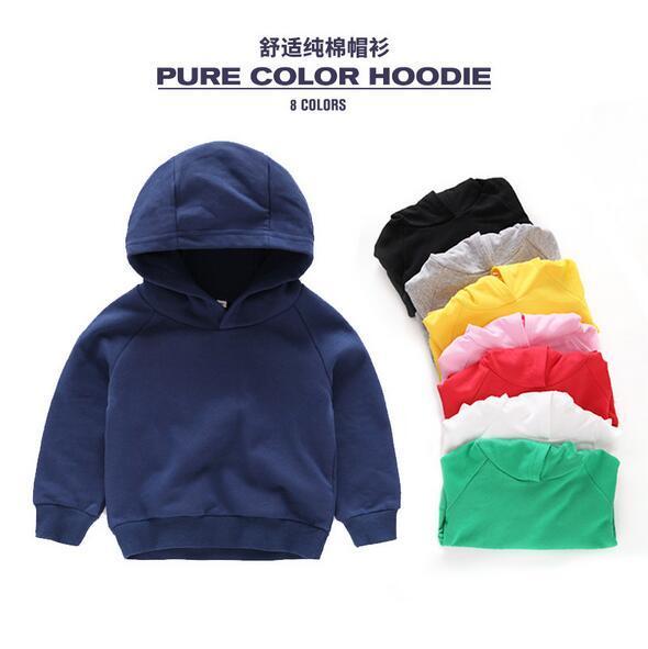 4 6 8 10 11 anos meninos e meninas colorido criança puro algodão hoodies com vermelho verde amarelo rosa branca roupas de criança Camisolas