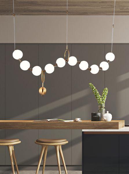 Lusso Semplicità Collana di perle Lobby Lampadario Illuminazione Arte del vetro LightsLiving Room Modello Showroom Hall Personality Bubble Lamps