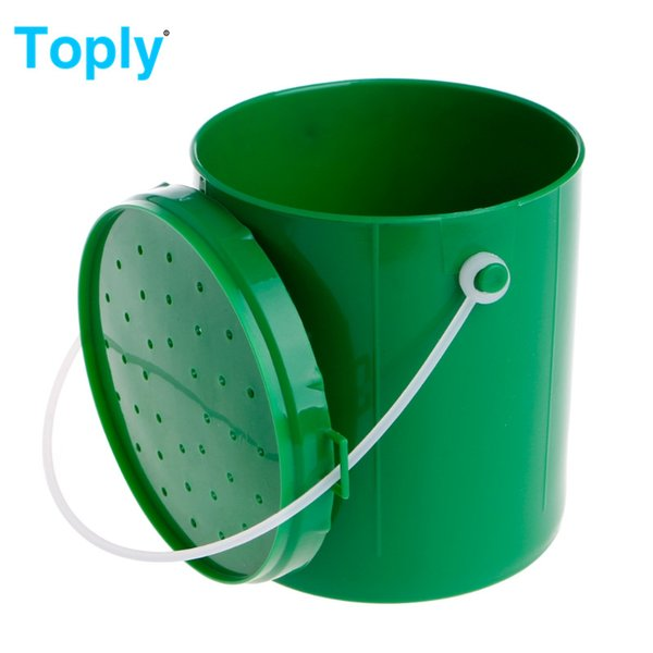 Toply Fishing Bait Bucket Transpirable Live Earthworm Maggot Worm Lures Container Tackle