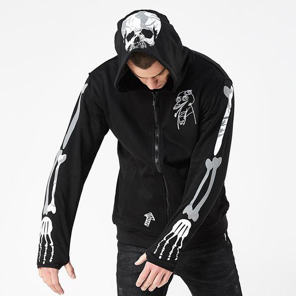 Designer de moda Hoodies Para Homens Camisola Primavera Outono Novidade Mens Outerwear Com Crânios Moda Casual Juventude Tops Roupas M-3XL