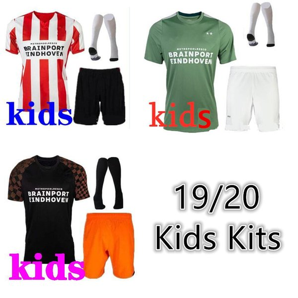 kids kit 2019 20 PSV Eindhoven BRUMA Malen Third Afellay Mitroglou soccer jersey camisa maillot de football shirt men camisetas de fútbo