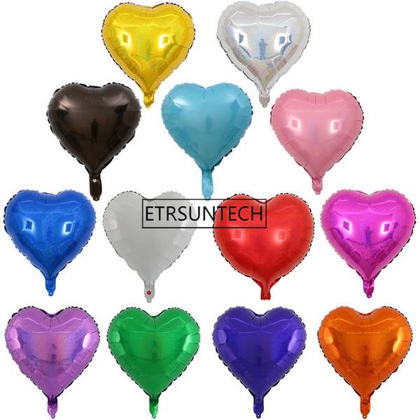 En gros vente chaude En Forme De Coeur Laser ballon De MariageAnniversary Party Saint Valentin douche aimer poule nuit décoration ballons 18 pouces