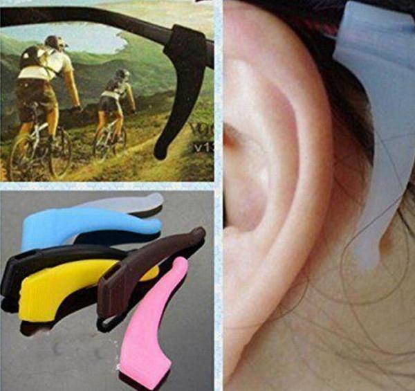 Atacado Anti Slip Ear Gancho De Óculos Macio e Confortável Acessórios Para Óculos De Silicone GripTemple Tip Titular Espetáculo Óculos Aderência