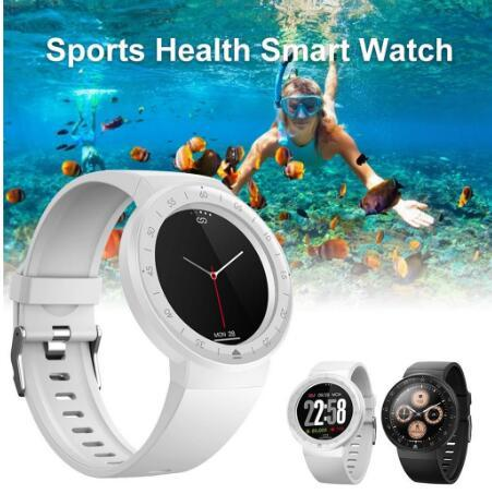Smart Watch Waterproof Tempered Glass Activity Fitness Tracker Heart Rate Monito