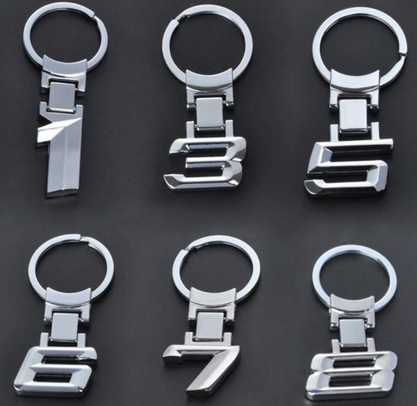 2019 del logotipo de las cadenas de aleación llavero anillo titular de la clave para BMW 1 3 5 6 7 8 X Series