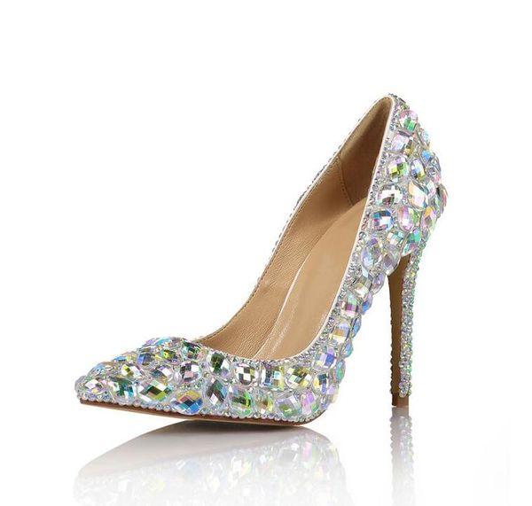 Fashion Women High Heels Prom Wedding Shoes Lady Back