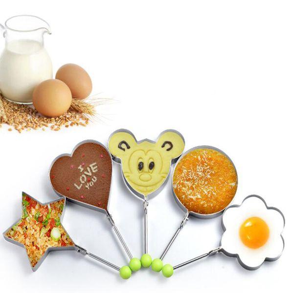 Paslanmaz Çelik Kızarmış Yumurta Şekillendirici Gözleme Kalıp Kalıp Mutfak Pişirme Araçları Mutfak Kızarmış Yumurta Şekillendirici Halka Gözleme Kalıp LJJK1329