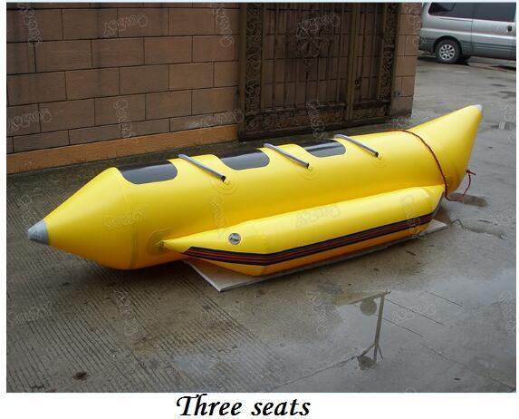 Three-seat banana boat