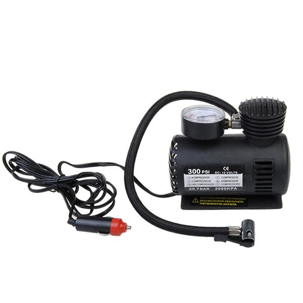 12v auto electric pump air compressor portable tire inflator 300psi air intakes parts