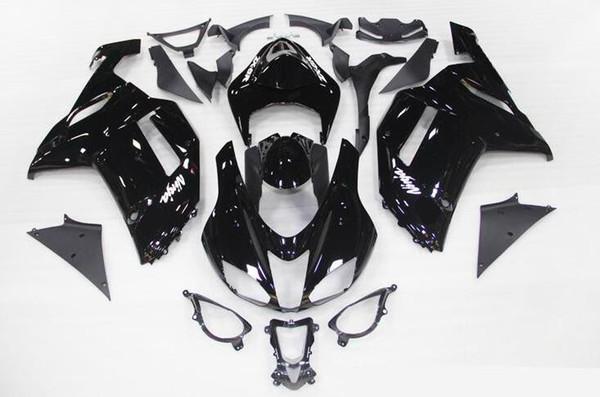 Alta calidad Nuevo ABS carenados de motocicletas aptos para kawasaki Ninja ZX6R 636 2007 2008 ZX6R 07 08 conjunto de carrocerías carenado de bicicletas personalizadas Negro brillante