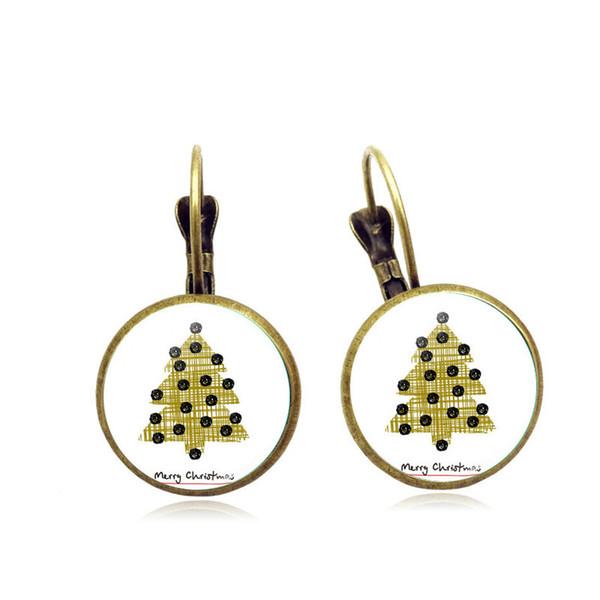 Außenhandel heißen Weihnachtsbaum Serie Zeit Edelstein Ohrbügel Runde Retro-europäischen Stil versilbert Ohrringe Ohrringe Großhandel