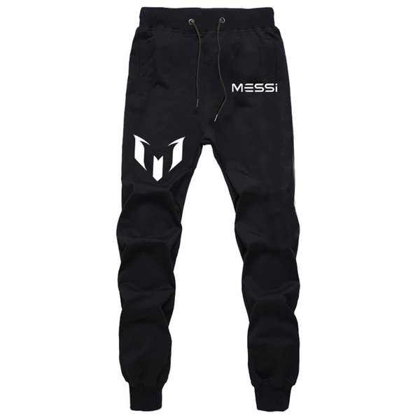 Harem Pants Tall Men Cotton Polyester Winter Warm Trousers MESSI Football Star Print Casual Parkour Basketball Fitness Sweatpant