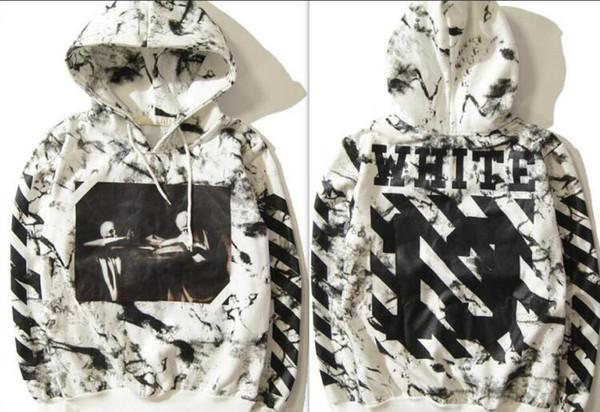 Brandoff hoodie White designer fashion tie dye bursting ink snowflake twill latest sports brand street fashion brand men's sweatshirt SS