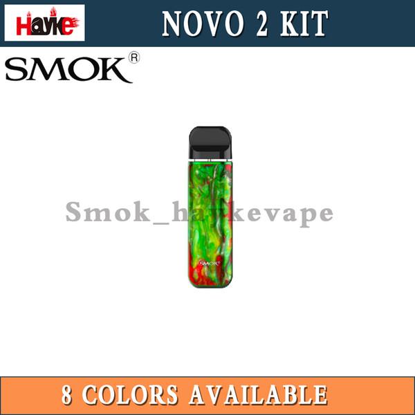 SMOK Novo 2 Kit Встроенный 800mAh 2 мл Mesh 1.0ohm DC 1.4ohm MTL Pods100% Оригинальные комплекты для электронных сигарет Pod System